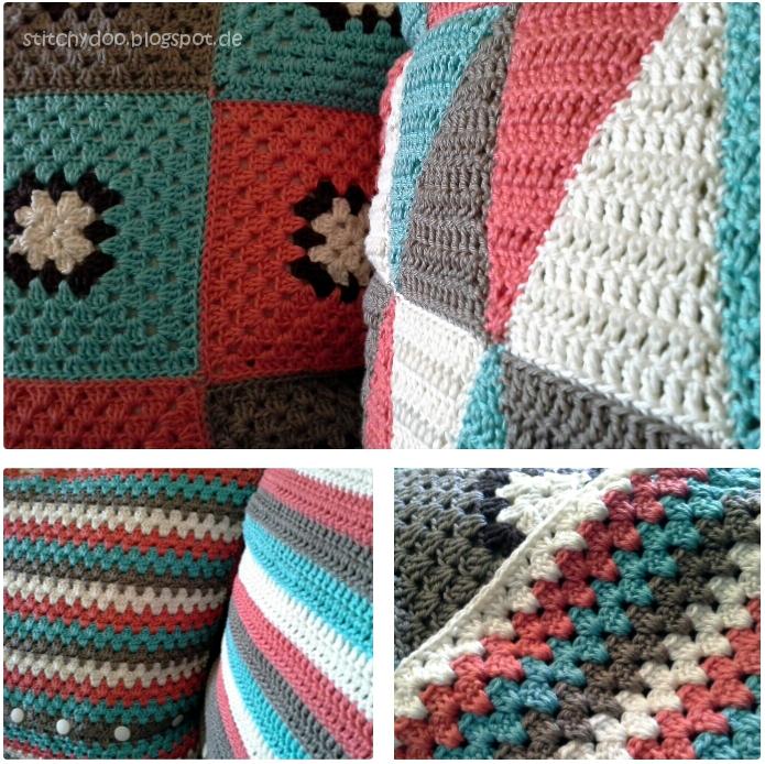 Kissen häkeln / crochet pillow / crochet cushion