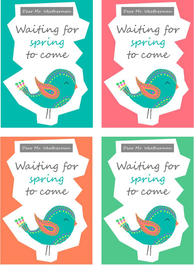 Dear Mr. Weatherman - waiting for spring to come - Postkarten Frühling