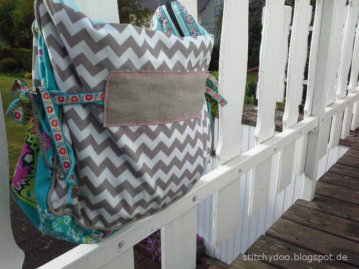 Florabella Tasche - Rückseite Chevron / Florabella bag pattern by jolijou