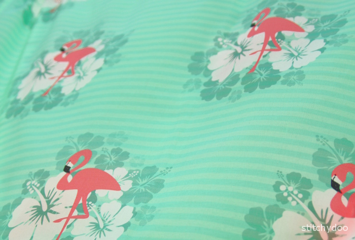 Flamingo Breeze - selbst designter Stoff - Tropical Feeling