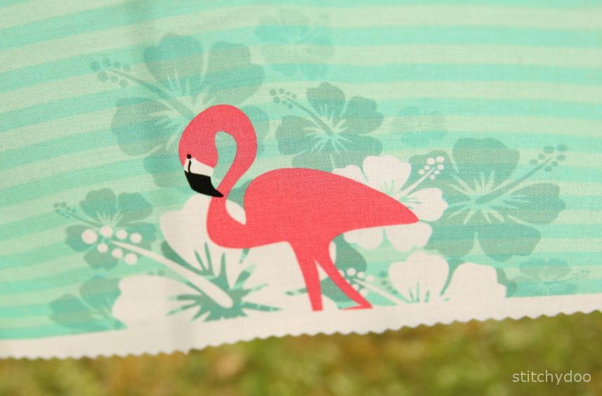 Flamingo Breeze - Mein selbst entworfener Stoff - Tropical Feeling
