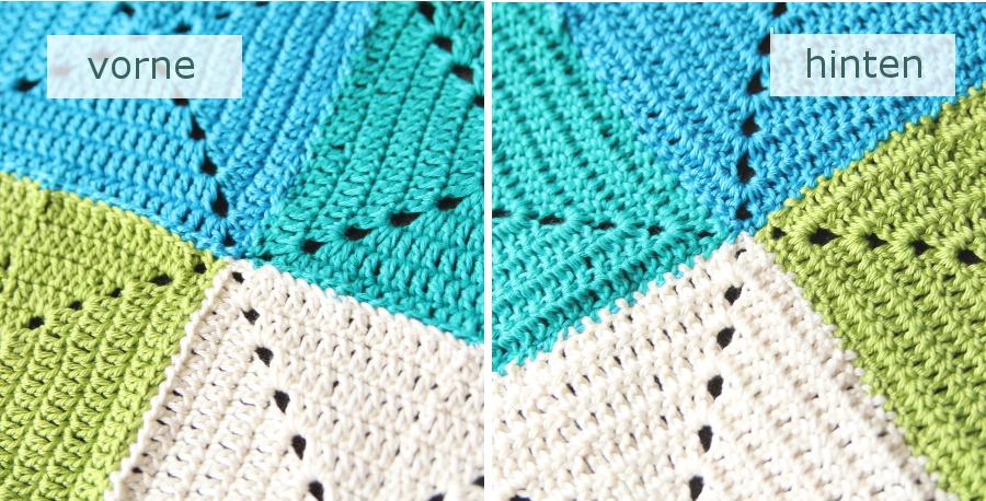Häkeldecke - Quadrate unsichtbar zusammenfügen // invisible joining granny squares