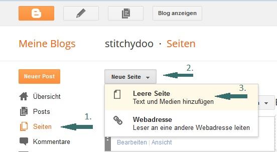 Blogger - Seite erstellen