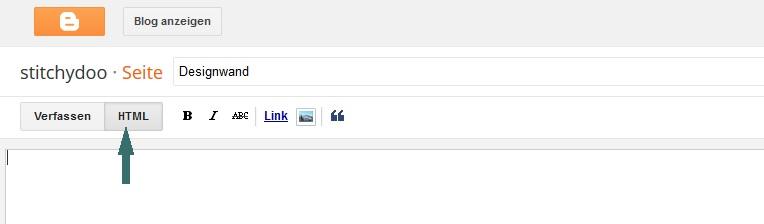 Blogger - Seite erstellen - HTML-Ansicht