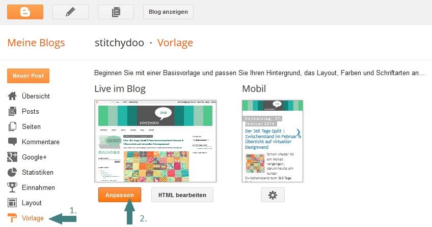 Blogger - Vorlagendesigner