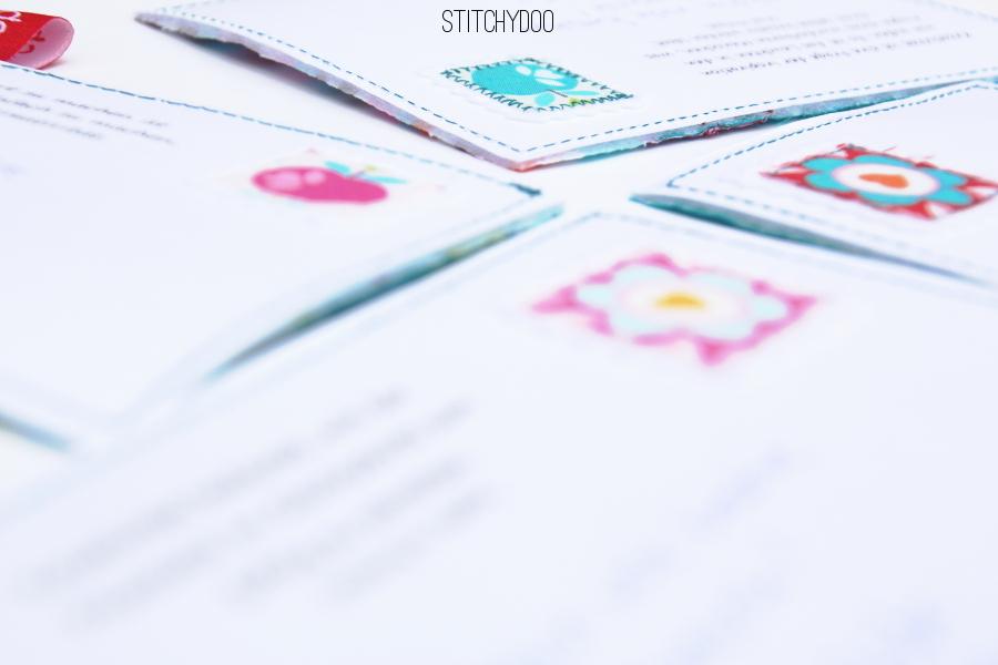 stitchydoo: Stoffkartentausch | Meine genähten Karten im September