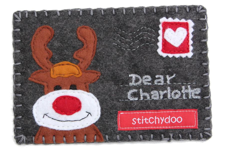stitchydoo: Stoffkartentausch | Winterliche Grüße im Dezember - Rentier