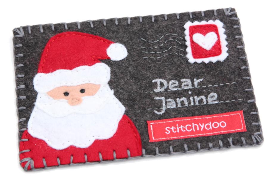stitchydoo: Stoffkartentausch | Winterliche Grüße im Dezember - Weihnachtsmann