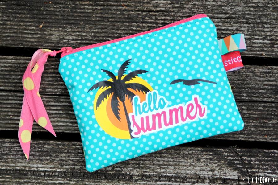 stitchydoo: Caribbean summer | Kramtasche für mich und ein Plotter-Freebie für euch