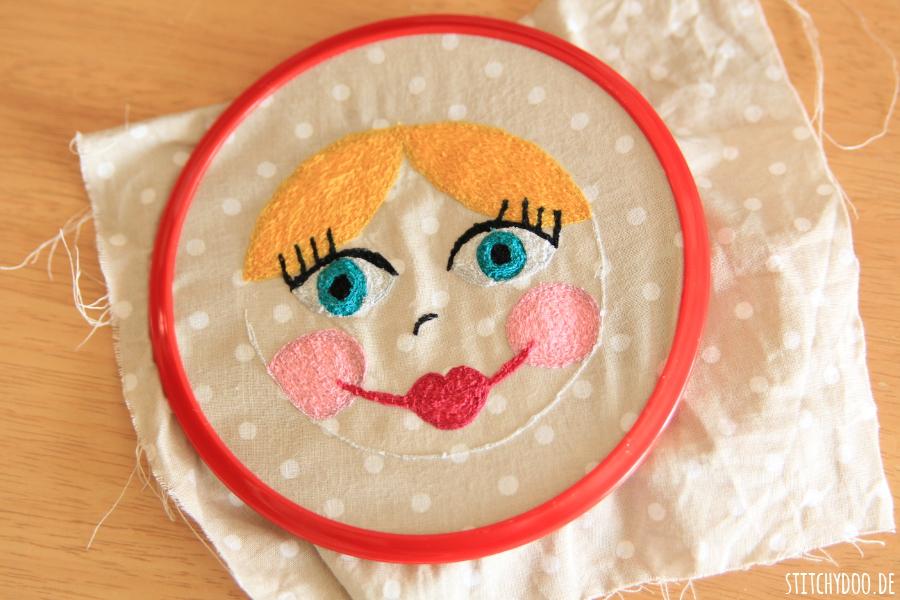 stitchydoo: Malen mit der Nähmaschine - Madame Pimpinellskova Gesicht
