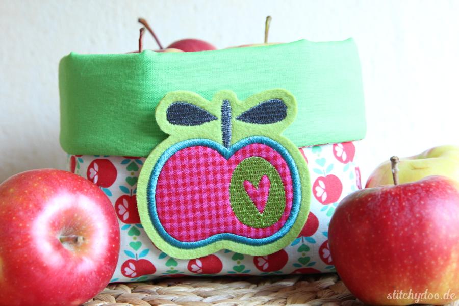 stitchydoo: Apfelkörbchen   It's all about apples - Utensilio