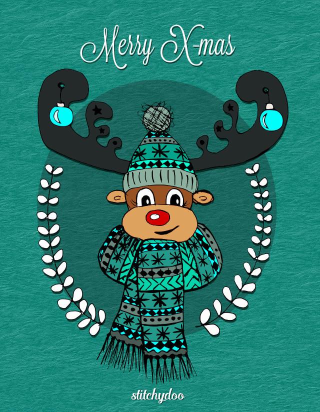 Weihnachtskarte: stitchydoo wünscht frohe Weihnachten