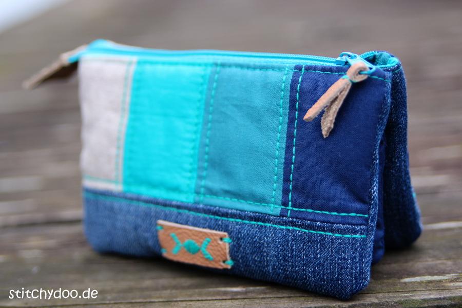 stitchydoo: Taschenspieler 3 Geldbeutel - Jeansrecycling und Patchwork