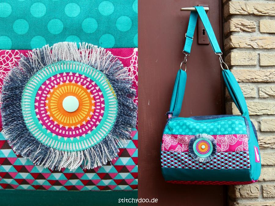 stitchydoo: Taschenspieler 3 Zylindertasche - Jeans-Recycling