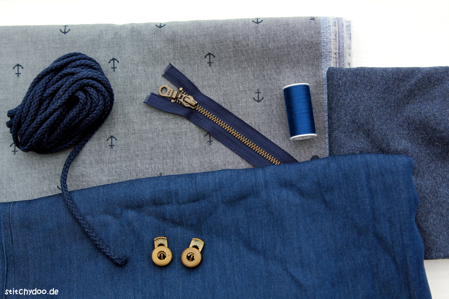 stitchydoo: Wind und Wetter Parka Sew Along - Meine Stoff- und Materialwahl
