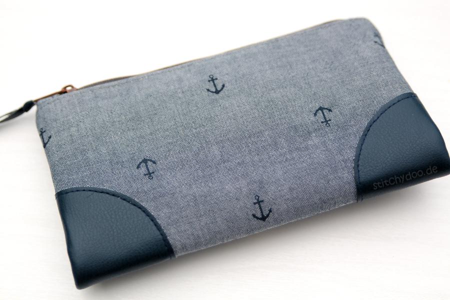 stitchydoo: Indigo Ahoi! | Maritime Geldbörse mit Ankern