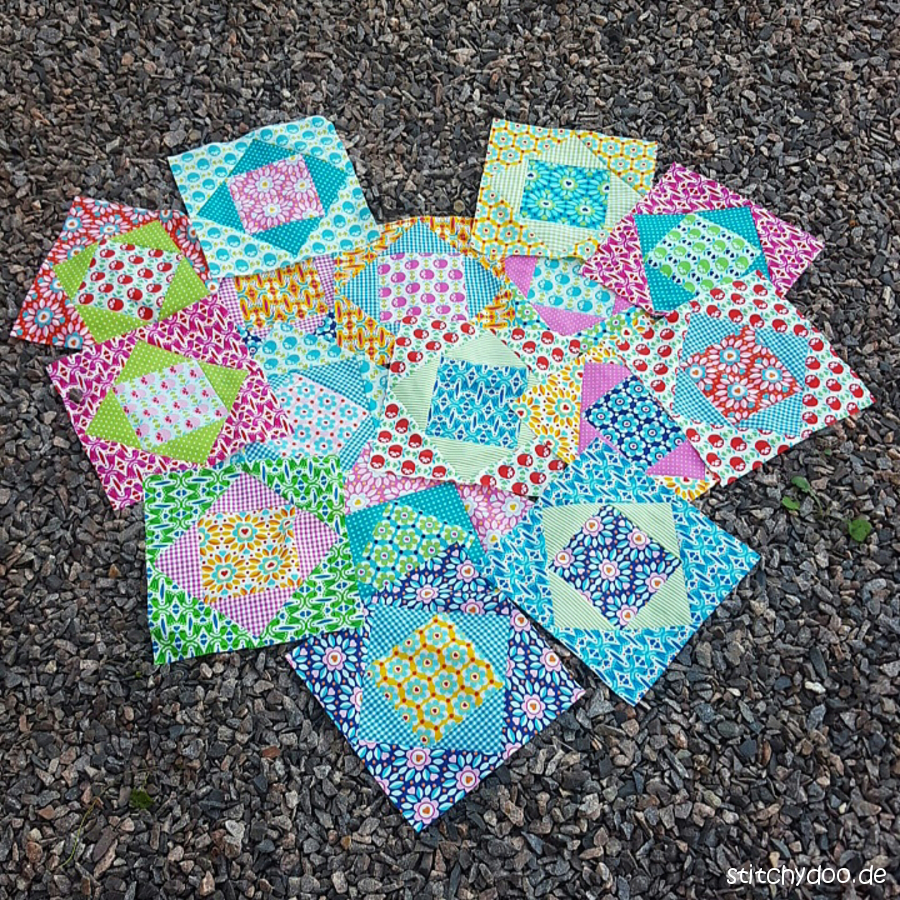 stitchydoo: NähWAHNaWochenEnde 2016 - I love Patchwork - Economy Quilt Blocks