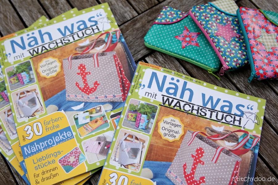"""stitchydoo: Bunte Reißverschlusstäschchen aus Wachstuch und meine Anleitung dazu in der Zeitschrift """"Näh was mit Wachstuch 3"""" {mit Giveaway}"""