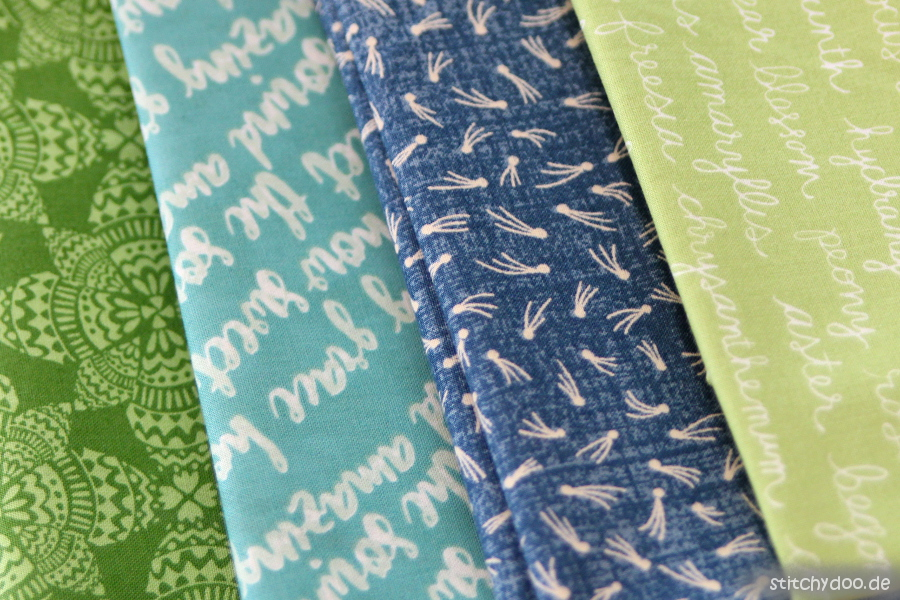stitchydoo: Patchworkstoffe blau - grün