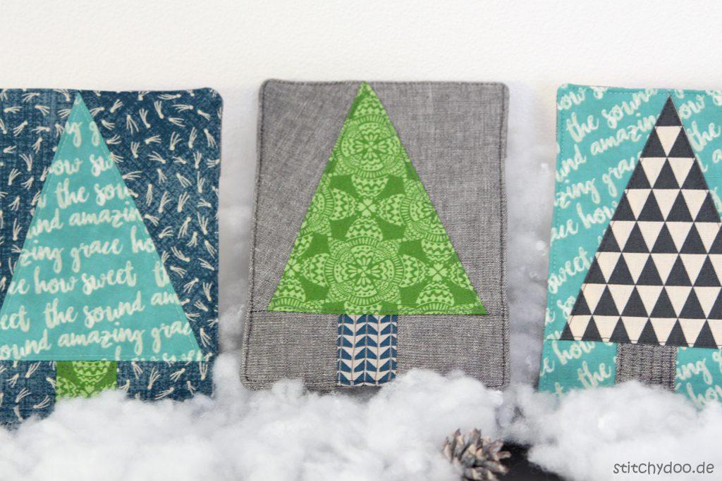 stitchydoo: Tutorial - Winterbaum-Stoffbilder mit Aufsteller {DIY gegen Novemberblues}