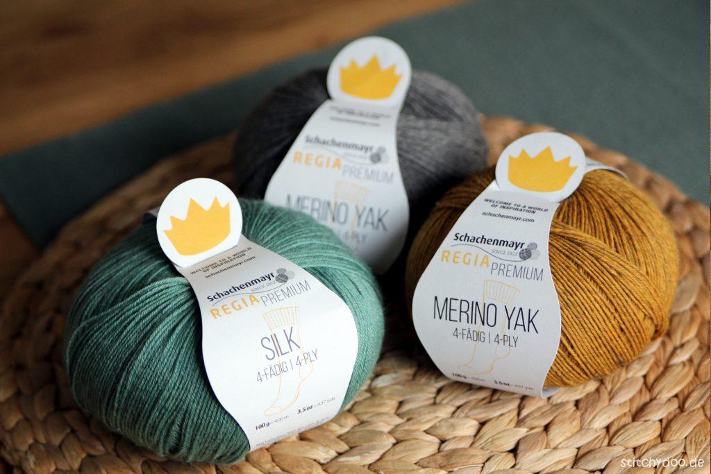stitchydoo: Socken stricken mit Regia Premium Silk und Yak